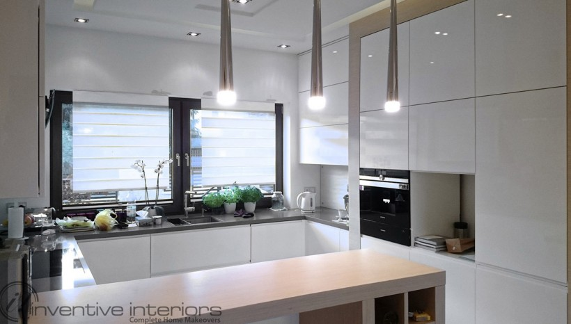 Rectangular-shaped kitchen