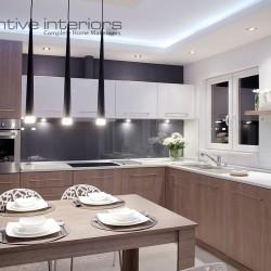 Timber open plan kitchen design